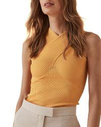 Reiss Yellow Dana Top