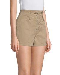 A.L.C. Natural Lace-up Shorts
