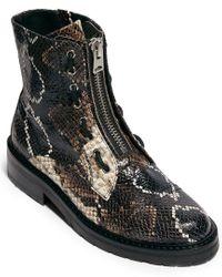 AllSaints Black Allsaints Ariel Leather Combat Boot