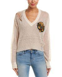 Wildfox - Natural Mascot Liana Wool & Alpaca-blend Sweater - Lyst