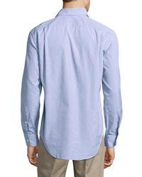 Breuer Blue Cotton Casual Button-down Shirt for men