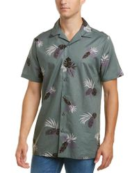 Onia Green Woven Shirt for men