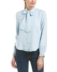 7 For All Mankind Blue 7 For All Mankind Bow Tie Denim Shirt