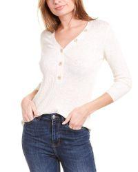Raffi White Linen-blend Top