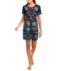 Tory Burch Black Floral Short-sleeve T-shirt Dress