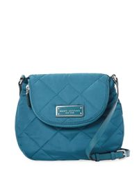 Marc Jacobs Blue Quilted Nylon Crossbody Bag
