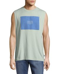Wesc Green Statement Cotton Tank Top for men