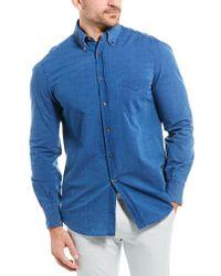 Brunello Cucinelli Blue Basic Fit Shirt for men