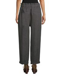 Free People Black Linen Ankle Pants