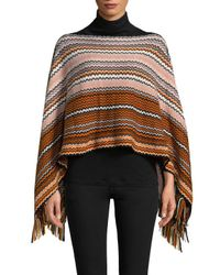 Missoni Multicolor Wool-blend Intarsia Poncho
