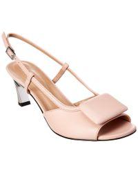 Marni Pink Slingback Leather Sandal