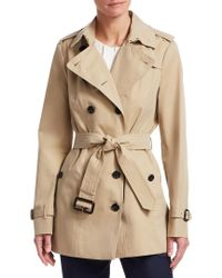 Burberry Black 'kensington' Double Breasted Trench Coat