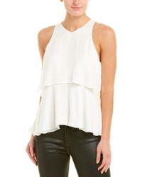 A.L.C. White Duran Silk Top