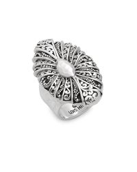 Lois Hill - Metallic Sterling Silver Fan Ring - Lyst