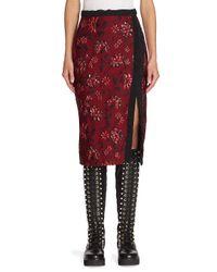 Altuzarra Red Sandrin Jacquard Skirt
