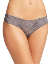 Cosabella - Gray Miinoa Low-rise Thong - Lyst