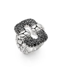 John Hardy Metallic Kali Black Sapphire & Sterling Silver Ring