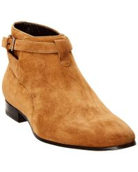 Saint Laurent Brown Men's Suede Boot for men