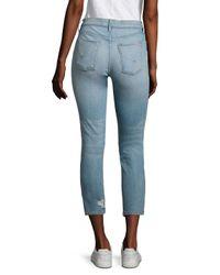 Hudson Blue Savy Distressed Cropped Straight-leg Jeans