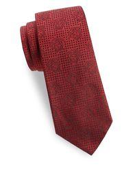 Versace Red Floating Medusa Silk Tie for men