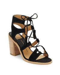 Dolce Vita Black Open-toe Ghillie Lace-up Sandals