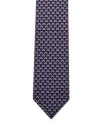 Ferragamo Blue Navy Bear Silk Tie for men