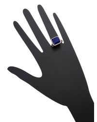 SHAY - Multicolor 14k Rose Gold, Lapis & 0.85 Total Ct. Diamond Square Ring - Lyst