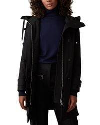 Reiss Black Ryder Technical Lightweight Coat