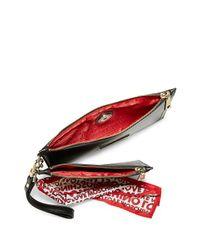 Love Moschino Black Set Of Two Zippered Wristlets