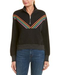 Wildfox Black Track Star Pullover