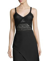 BCBGMAXAZRIA - Black Lace Bodysuit - Lyst
