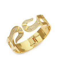 CC SKYE - Metallic Fish-hook Hinged Bracelet - Lyst