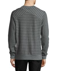 2xist - Gray Terry Crewneck Sweatshirt for Men - Lyst