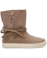 TOMS Brown Vista Waterproof Suede Boot