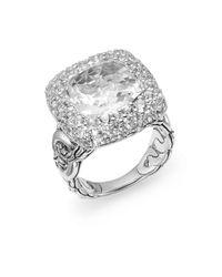 John Hardy Metallic Batu Klasik Ring/white Topaz