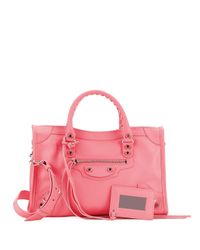 Balenciaga Pink Leather Buckle Tote