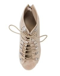 Kendall + Kylie Natural Gwen Lace-up Bootie