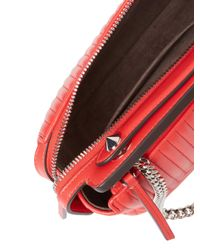 Fendi Red Leather Tote Bag