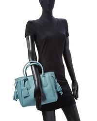 Longchamp - Blue Pnlope Small Leather Tote - Lyst