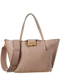 Valentino Garavani Multicolor Rockstud Hype Medium Grainy Leather Tote