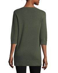 Vince Green Ribbed Cashmere Pullover