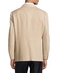 Hickey Freeman Metallic Silk-blend Textured Jacket for men