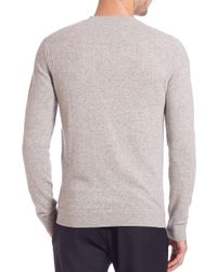 Theory - Gray Cashmere Crewneck Sweater for Men - Lyst