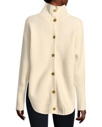 Three Dots Natural Wool Blend Button Back Sweater