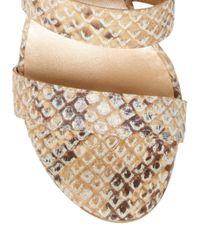 Stuart Weitzman Natural Barricade Strappy Sandal