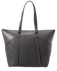 Rebecca Minkoff Black Signature Top Zip Leather Tote