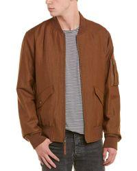 Vince Brown Classic Bomber Wool-blend Jacket for men