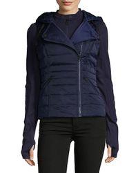 BLANC NOIR Blue Three-in-one Packable Down Moto Jacket