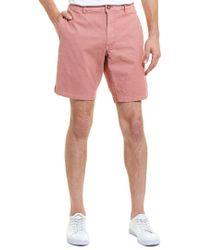 Tailor Vintage Red Greenwich Slim Fit Linen-blend Short for men