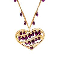 Chopard Metallic 18k 3.69 Ct. Tw. Diamond & Purple Rubellite Necklace